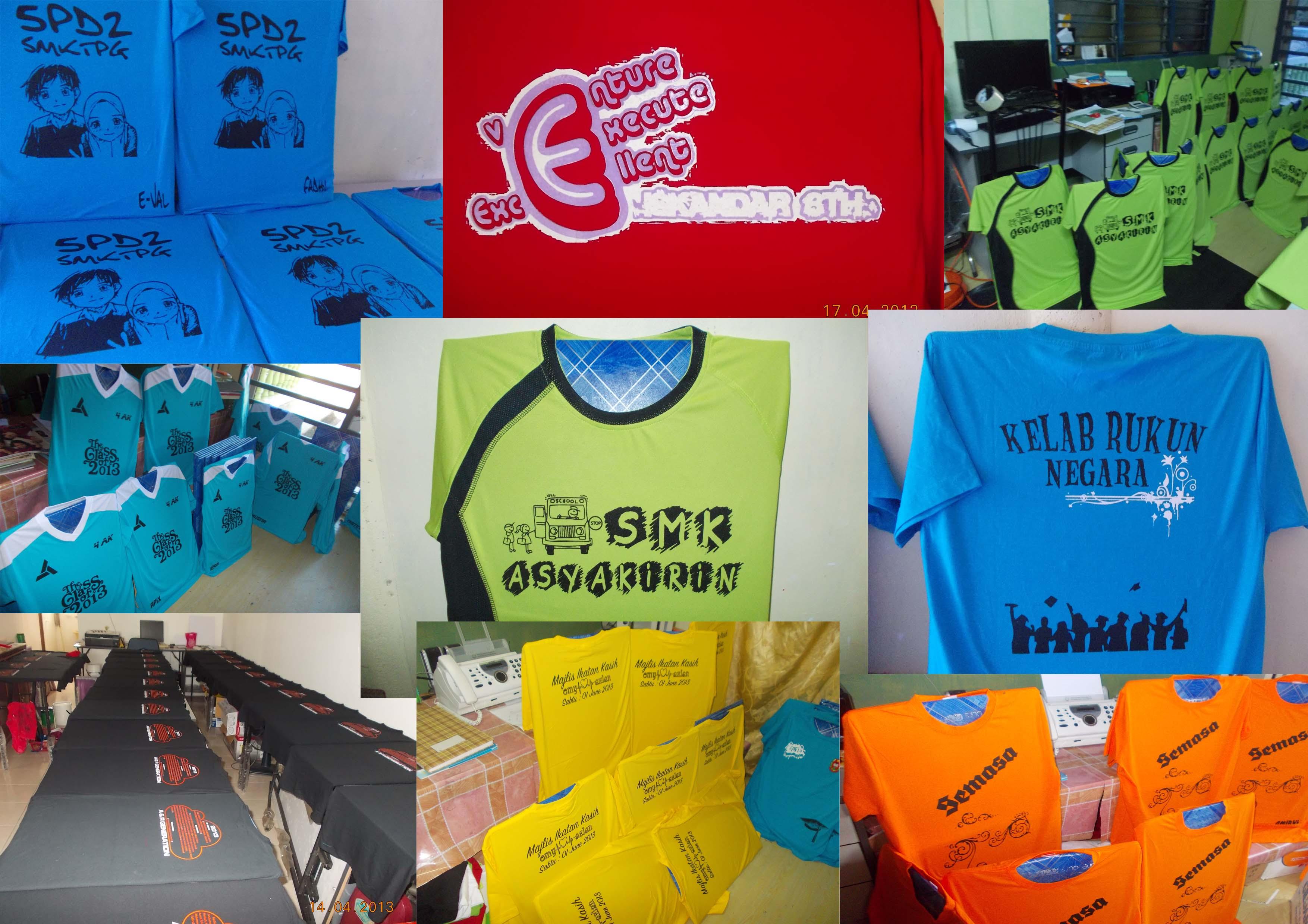 Design baju t shirt kelas -  Tshirt Kelas Sendiri Nanti Gambar Cetaktee 2b
