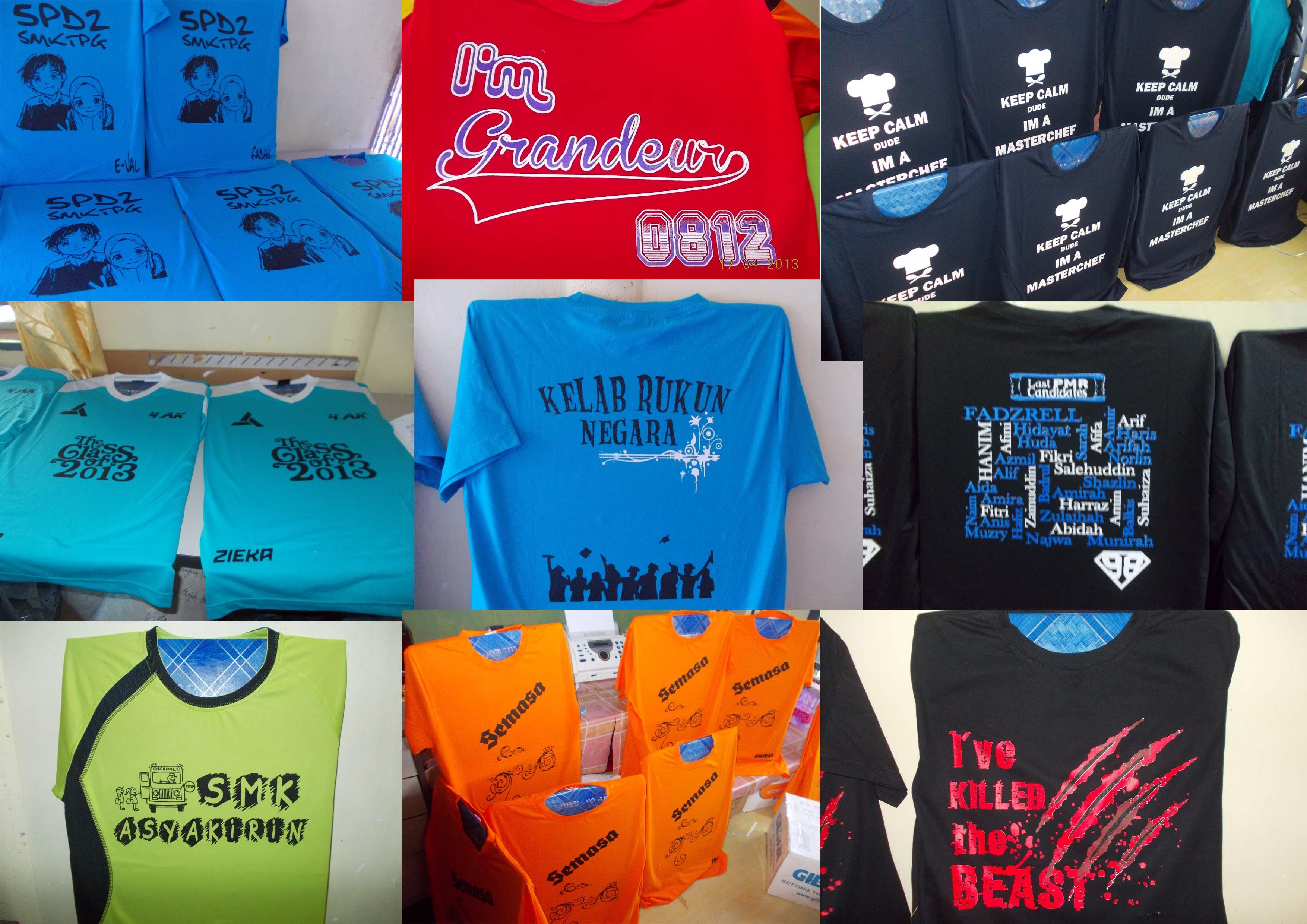 Contoh design tshirt kelas - Klik Sini Untuk Pelbagai Contoh Tshirt Siap